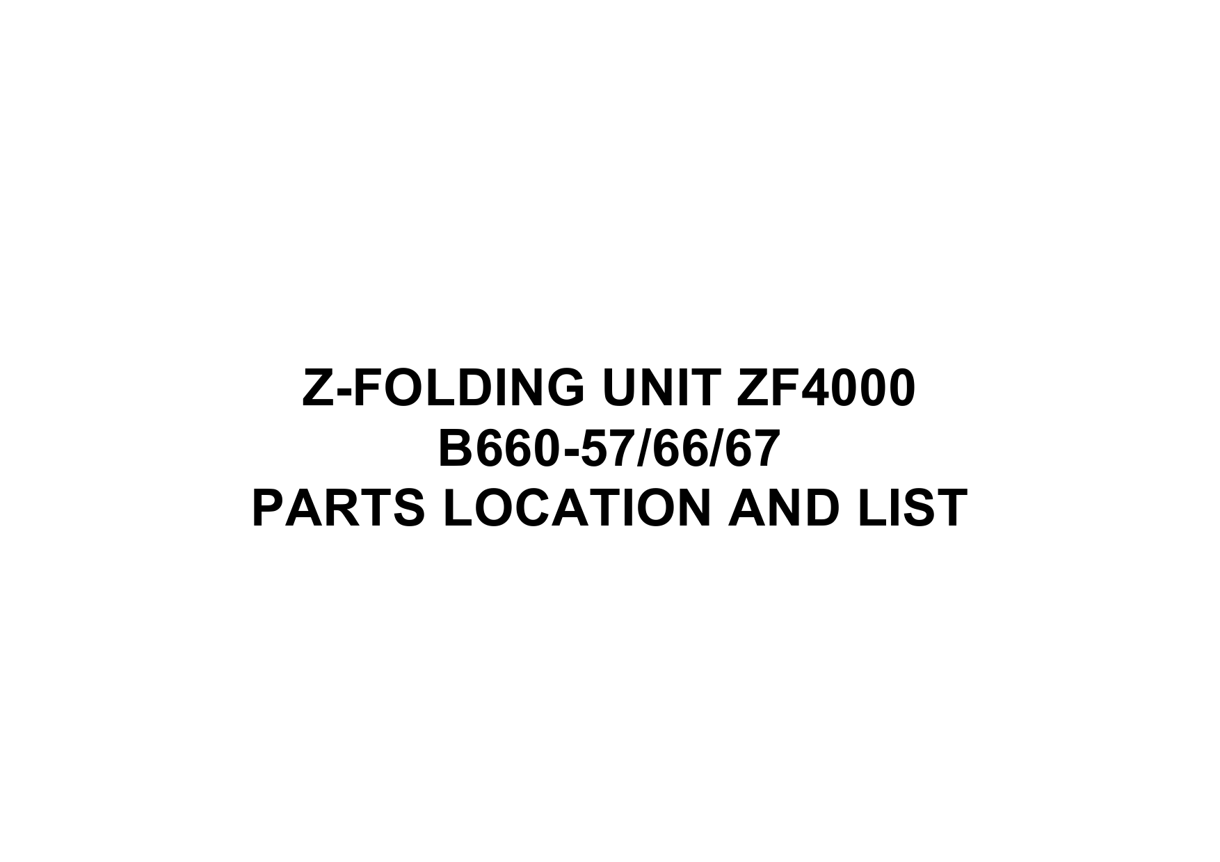 RICOH Options B660 Z-FOLDING-UNIT-ZF4000 Parts Catalog PDF